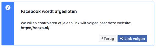 Facebook link shim