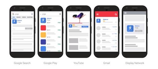 App campaigns plaatsingen