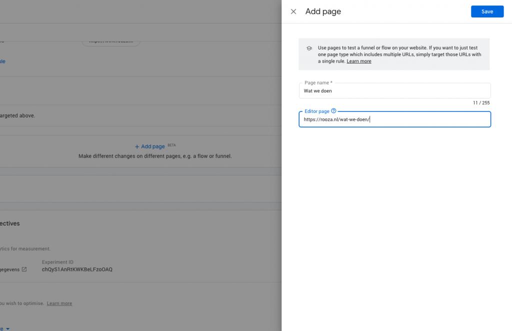 Flows & funnels A/B testen met Google Optimize