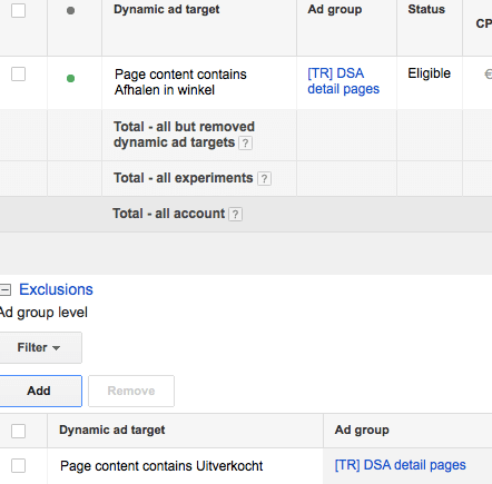 Dynamic Search Ads Adwords